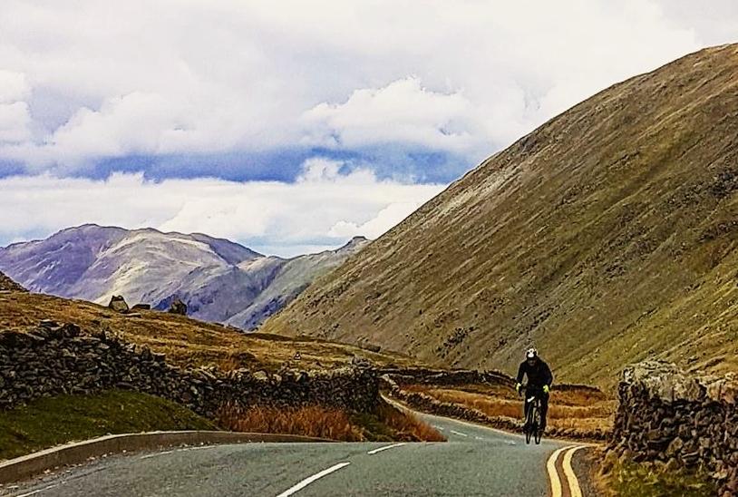cycling up Kirkstone Pass